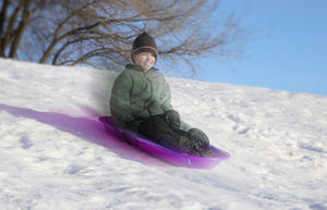 "Kids Snow Sled, 48"" (Purple)"