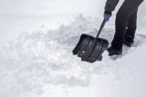 "15"" Wide Snow Shovel with Foam Grip."