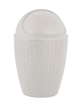 Load image into Gallery viewer, Deluxe Wicker Style 7.5 qt. Roll-top Trash can