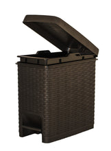 Load image into Gallery viewer, Slim Trash Can Rattan Style 6.5 Qt.