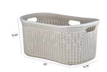 Load image into Gallery viewer, Laundry Basket, Laundry Hamper, 50-liter Deluxe Wicker Style Basket with Cutout Handles, to Storage Dirty Clothes, in Washroom, or Bedroom, By Superio.