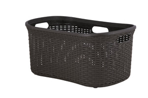 Laundry Basket, Laundry Hamper, 50-liter Deluxe Wicker Style Basket with Cutout Handles, to Storage Dirty Clothes, in Washroom, or Bedroom, By Superio.