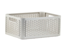 Load image into Gallery viewer, Deluxe Wicker Style Storage Basket, 20 qt.
