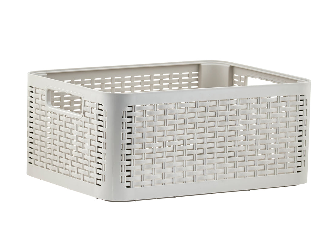 Deluxe Wicker Style Storage Basket, 20 qt.