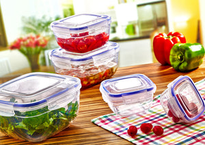 Set of 4 Square Sealed Containers