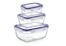Load image into Gallery viewer, Rectangle Sealed Containers - set of 3