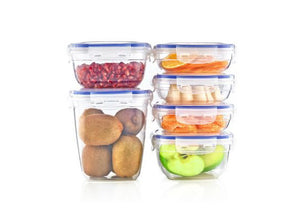 Rectangle Sealed Containers - set of 3