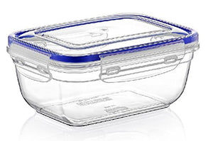 Superio Food Storage Containers, Airtight Leak-Proof Meal Prep Rectangular Containers, 4.25 Qt.