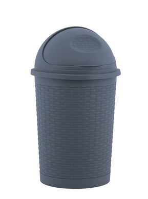 Deluxe Wicker Style 10 Gallon Roll-top Trash can
