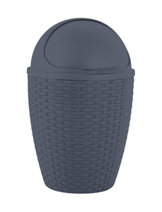 Deluxe Wicker Style 7.5 qt. Roll-top Trash can