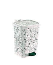 Load image into Gallery viewer, Step-On Trash Can, Lace Design, 6 Qt.