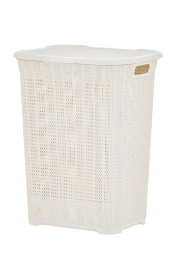 50 liter Knit Style Laundry Hamper with Cutout Handles.
