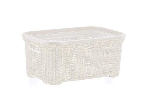 Laundry Basket, Laundry Hamper, 40-liter Knit Style Basket with Cutout Handles, to Storage Dirty Clothes, in Washroom, or Bedroom. By Superio.