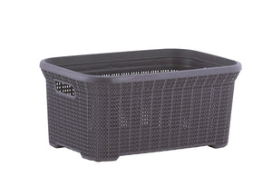 40-liter Knit Style Laundry Basket with Cutout Handles.