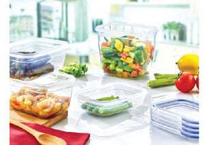 Square Deep Sealed Containers 3-Pack