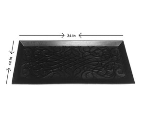 "34"" Decorative Rubber Boot & Shoe Tray"