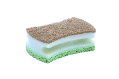 Natural Sisal Cellulose scrub sponge with Grip