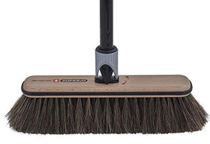 Premium Horsehair Broom with Beach Wood Brush Head and Multi Position Handle