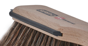 Superio's Horsehair Wooden Hand Broom and Dustpan Set - Best Kitchen and Home Dust Brush Set