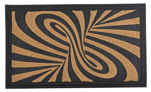 Abstract Coir Doormat