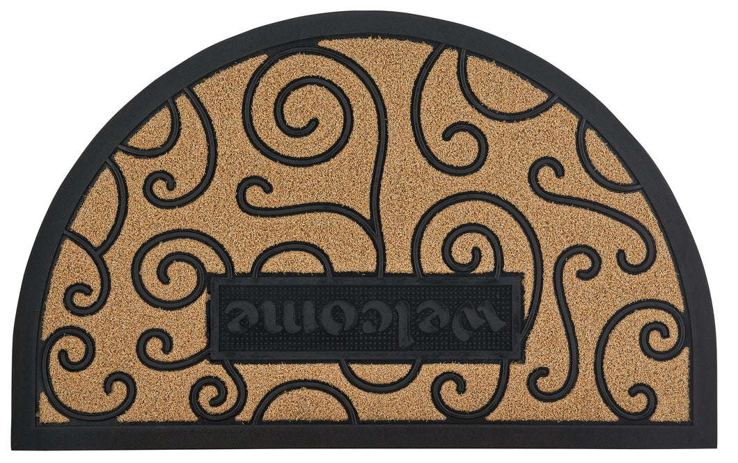 Ornate Scroll Coir Doormat