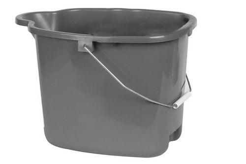 Plastic Mop Bucket Grey 16 Liter / 4.2 Gallon