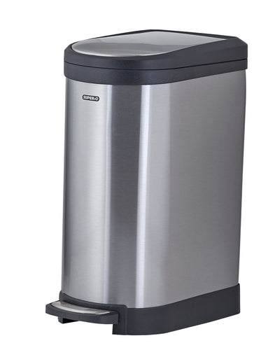 Stainless Steel Trash Can, 10.6 Gallon