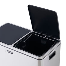 Load image into Gallery viewer, 2 Compartment Stainless Steel Trash Can