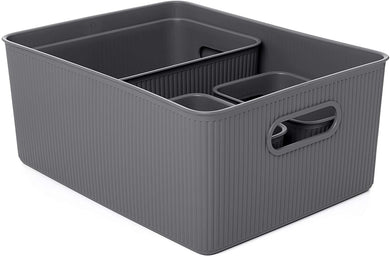 Acanalada Storage Bin Set of 4 Grey