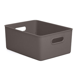 Acanalada Storage Bin 15 Liter Brown