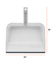 "Load image into Gallery viewer, 10"" Wide Clip-On Dustpan with Rubber Lip."