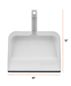 "10"" Wide Clip-On Dustpan with Rubber Lip."