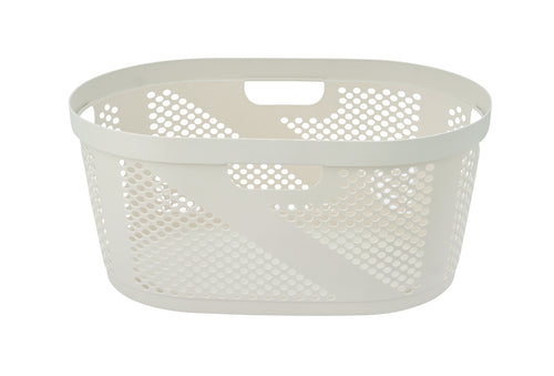 50-liter Dotted Laundry Basket, with Cutout Handles,