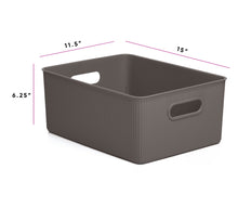 Load image into Gallery viewer, Acanalada Storage Bin 15 Liter Brown