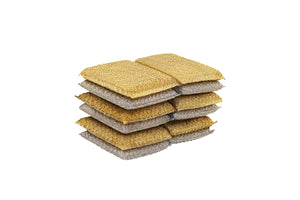 6-Pack Metallic Sponge, Silver and Gold