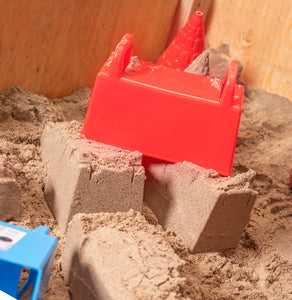 Kids Snow and Sand Toys Pack of 2, Includes a Blue and Red Block Mold.