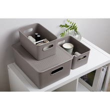 Load image into Gallery viewer, Acanalada Storage Bin 15 Liter Taupe