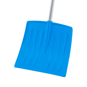 "12"" Blue Kids Snow Shovel with Metal Handle"