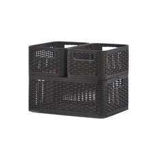 Load image into Gallery viewer, Storage Basket, 9 qt. deluxe wicker style home organizer bin, to storage any item, anywhere in the house,