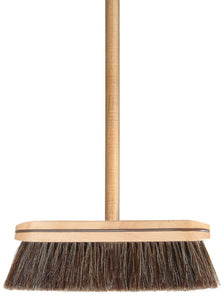 "Horsehair Broom, with 48"" Wooden Handle"
