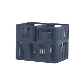 Storage Basket, 9 qt. deluxe wicker style home organizer bin, to storage any item, anywhere in the house,