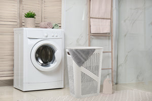 60-liter Dotted Laundry Hamper, with Cutout Handles,