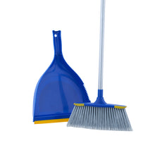 Load image into Gallery viewer, Angle Broom with Clip-on Dustpan Set