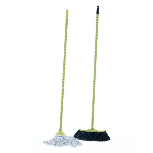 Cotton Mop and Broom Set.
