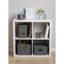 Load image into Gallery viewer, Acanalada Storage Bin Set of 4 Grey