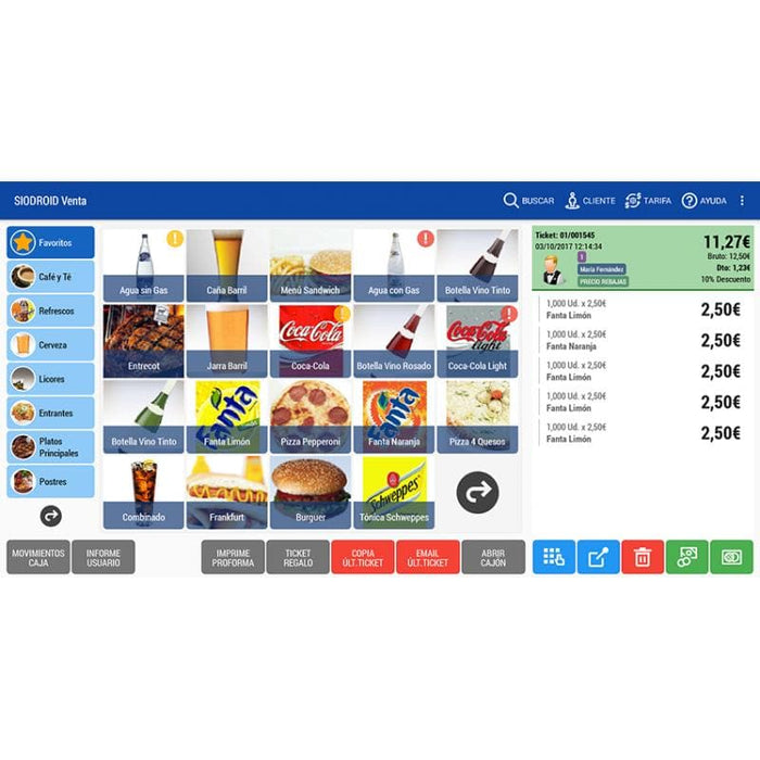 Software Siodroid  restaurantes Android