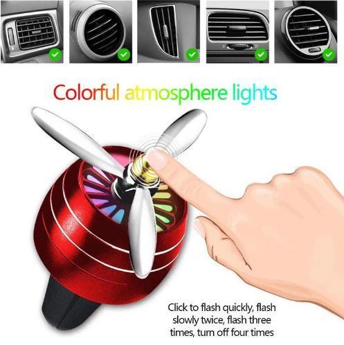 HulkBuy™ LED Colorful Lights Upgrade Version Of The Car Outlet Perfume Air  Conditioning Small Fan(Buy 2 Get 1 Free)