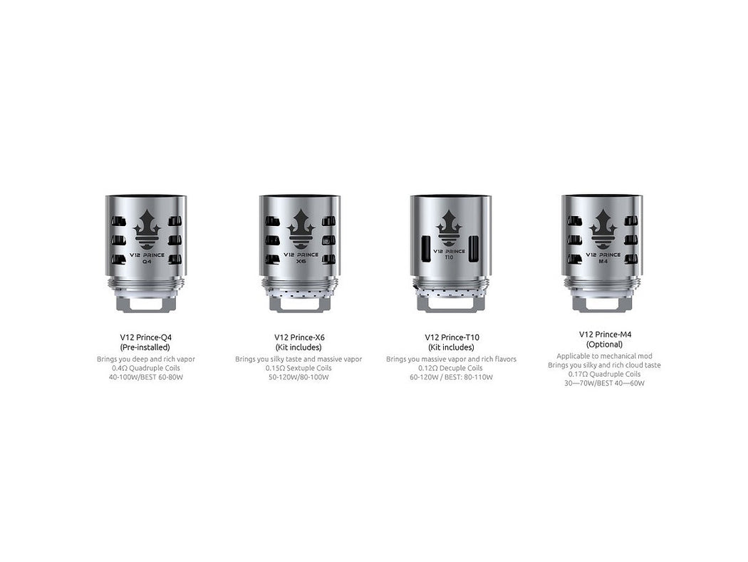 Smok TFV12 Prince Replacement Coil Heads