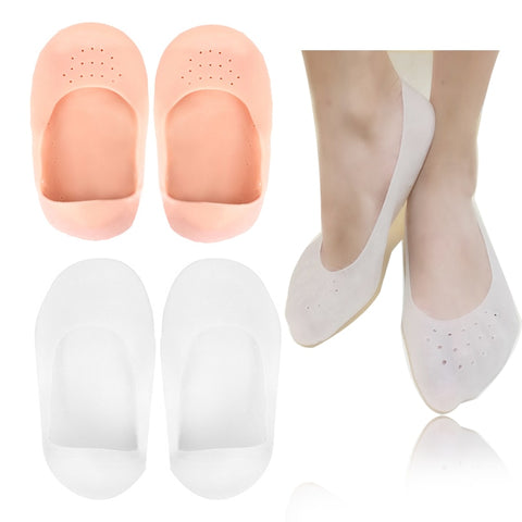 1Pair Silicone Gel Moisturizing Sock