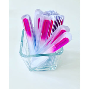 Glass Nail File - Cool Straw